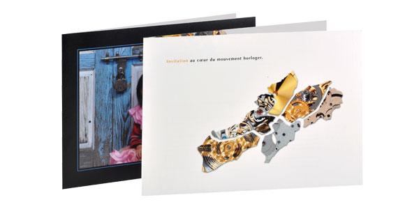 Idm 444 impression num rique choix de papier et Impression carte de voeux